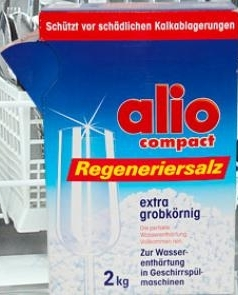 Muối rửa chén alio alio liệu pháp tối ưu ngăn chặn các tạp khoáng trong máy rửa chén alio