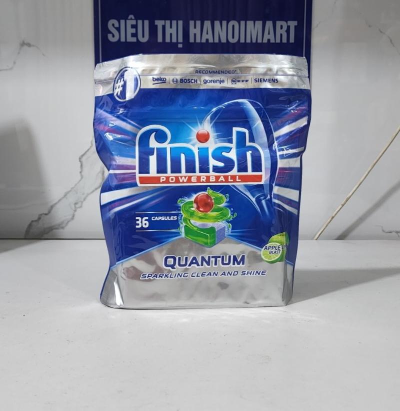 viên rửa bát chén finish quantum 36 tabs powerball calgonit pur & clar