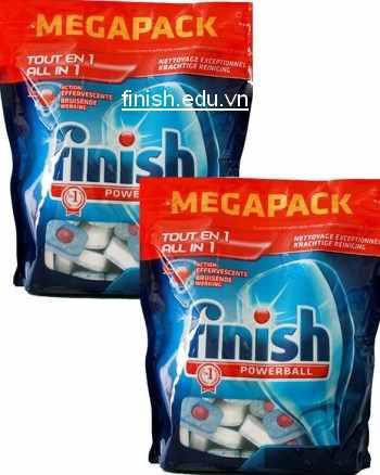 viên rửa bát finish all in one 96 tabs chuyên dùng cho máy rửa bát