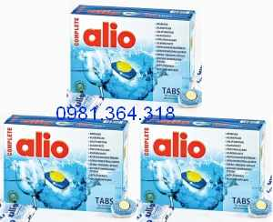 viên rửa bát allio complete 12 in 1 loại 120 tabs