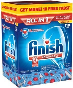 viên rửa bát finish all in one 110 tabs