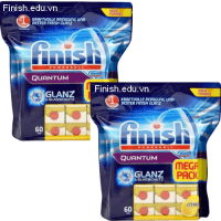 viên rửa bát Finish Quantum Citrus 120 viên made in edu