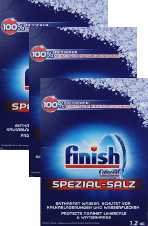 muối rửa bát finish Spezial Salz 3,6kg made in eu