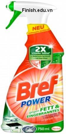 Nước tẩy rửa vệ sinh BREF Power dùng cho bếp từ, hồng ngoại, bếp ga âm, bếp điện