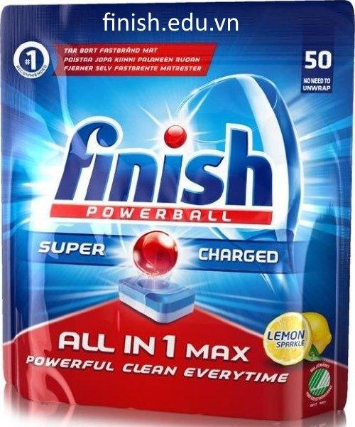 viên rửa bát finish all in 1 max 50 viên