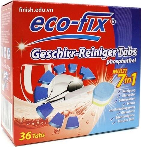 viên rửa bát Ecofix multi 7 in 1 chuyên dùng cho máy rửa bát – eco-fix geschir reiniger 36 tabs