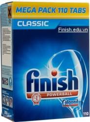 Viên rửa bát finish hộp 110 viên powerball nhập khẩu từ đức