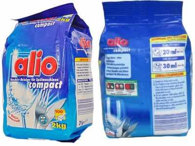 bột rửa bát chén alio compact 2kg nhập khẩu đức