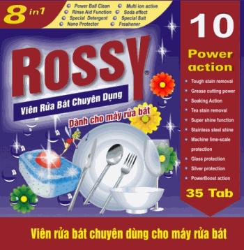 viên rửa bát rossy 35 viên chuyên dùng cho máy rửa bát