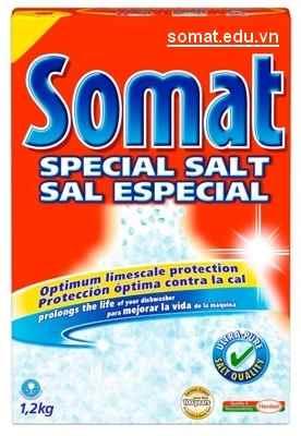 Muối rửa chén Somat trung hòa mùi khó chịu, sạch chén đĩa, tiết kiệm năng lượng