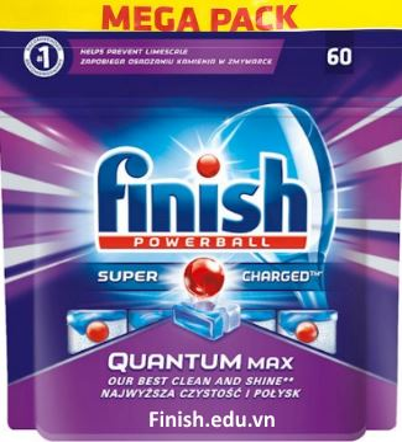 viên rửa bát Finish Quantum 60 tabs