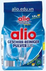 bột rửa bát alio geschirr reiniger pulver 1,8kg dùng cho máy rửa bát