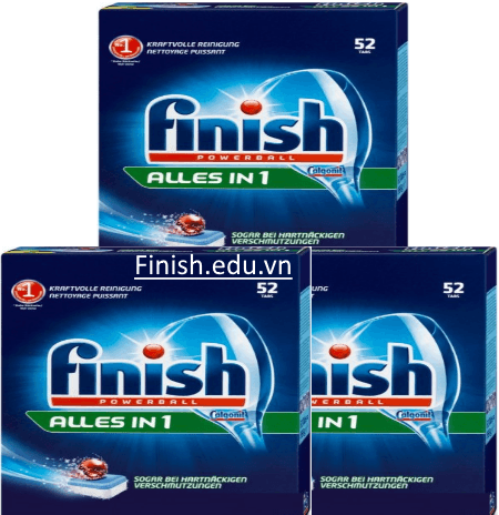 viên rửa bát finish All in 1 156 viên made in Germany