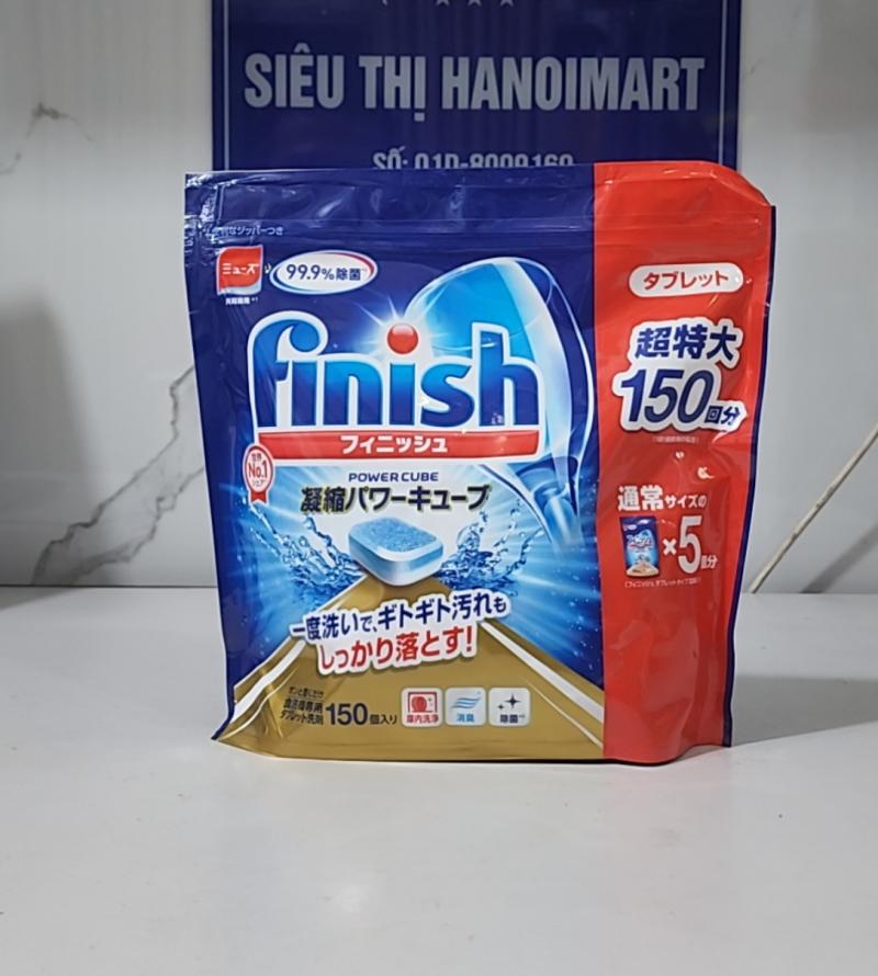 viên rửa bát finish power cube 150 viên nhập khẩu nhật bản