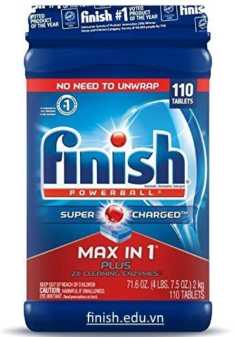 Viên rửa bát Finish super Max in 1 Plus made in USA