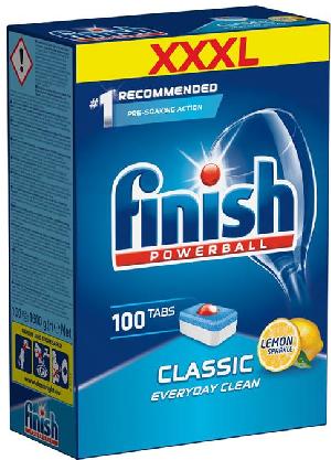 viên rửa bát finish 100 viên classic nk châu âu cho máy rửa bát