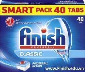 viên rửa bát finish 40 viên clasic nk đức dùng cho máy rửa bát