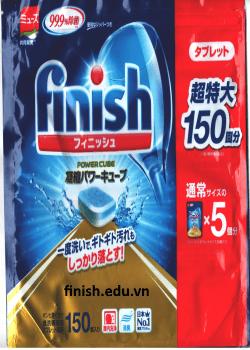 viên rửa bát nhật bản finish dùng cho máy rửa bát nội địa nhật 150 viên