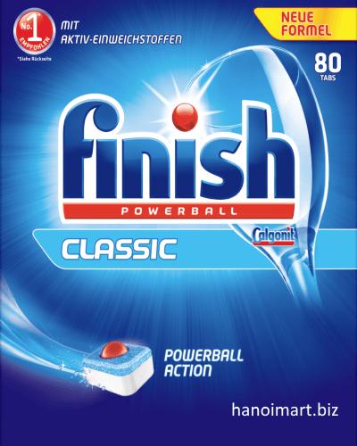 """viên rửa bát chén finish 80 viên """"finish classic 80 tabs"""""""