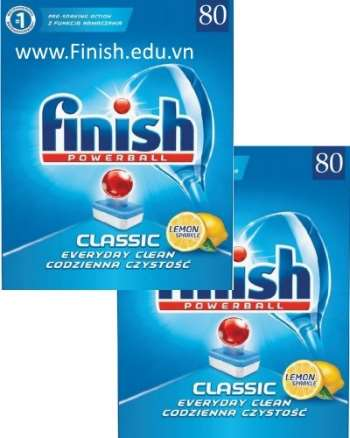 """viên rửa bát finish classic giá rẻ tiết kiệm nhất 160 viên  """" 80 tabs x 2 """""""