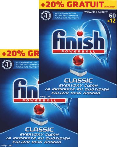 viên rửa bát finish powerball classic nhập khẩu châu âu EU 144 viên