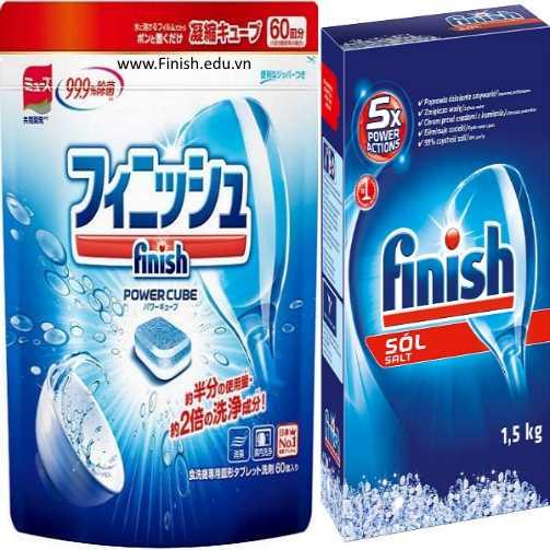 viên rửa bát nhật bản finish 60 viên và muối rửa chén finish nhập khẩu đức 1.5kg