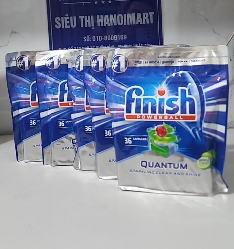 viên rửa bát finish quantum nhập khẩu Châu Âu giá rẻ 180 viên