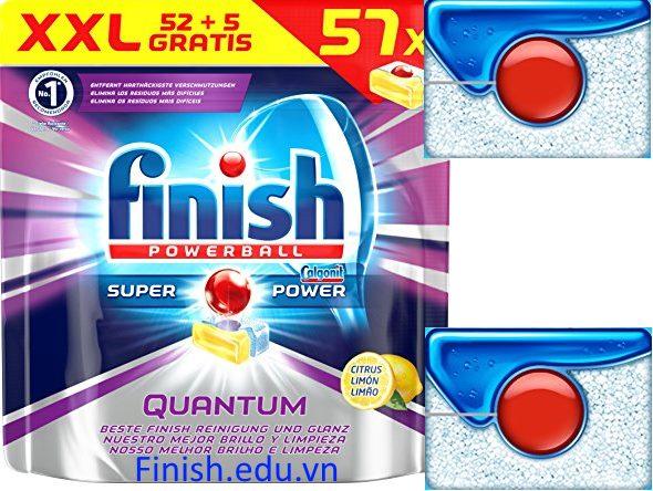 Viên rửa bát finish quantum 57 viên ( 52 + 5 tabs)
