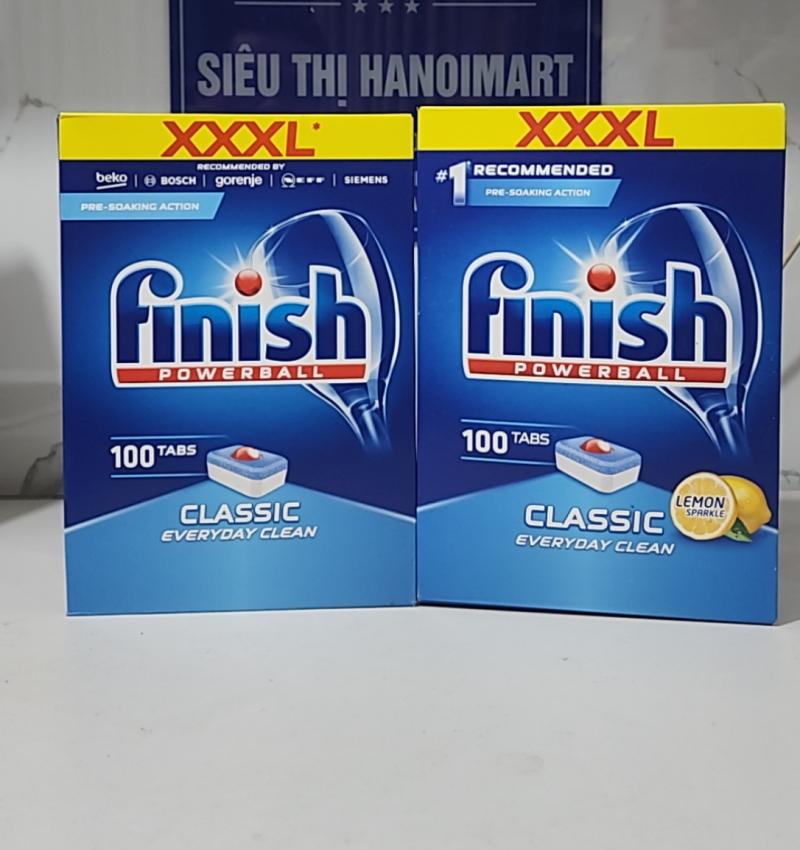 viên rửa bát finish giá rẻ nhất hộp to nhất 200 viên (100 tabsx2)