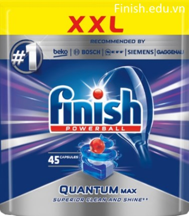 viên rửa bát finish quantum max 45 viên