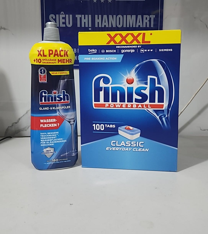 Combo Viên rửa bát finish 68 viên và Nước làm bóng bát finish 800ml