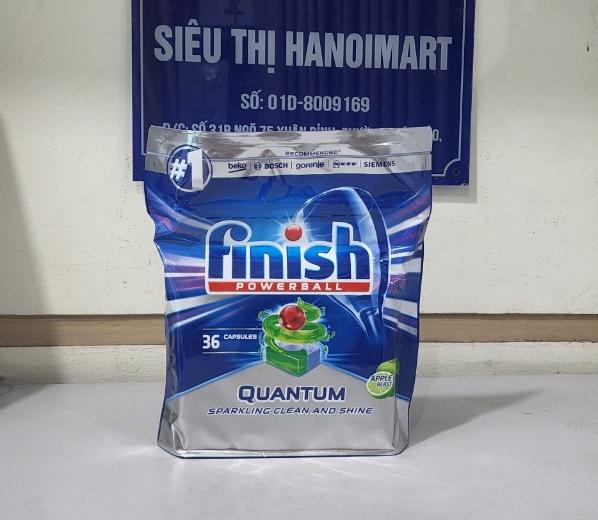 viên rửa bát cao cấp finish quantum max hương chanh 36 viên nhập khẩu châu âu
